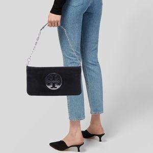 Tory Burch Black Reva Clutch/Shoulder Bag